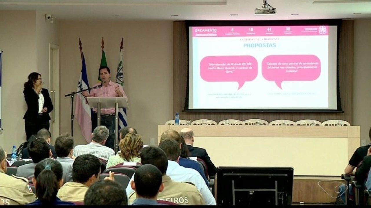 Audiência pública em Colatina, ES, é feita para início da elaboração do Orçamento 2019