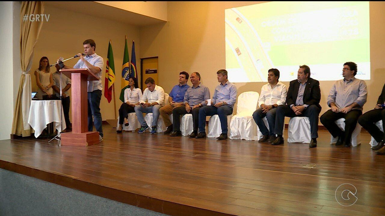 Ministro dos Transportes Valter Casemiro anunciou investimentos para a cidade