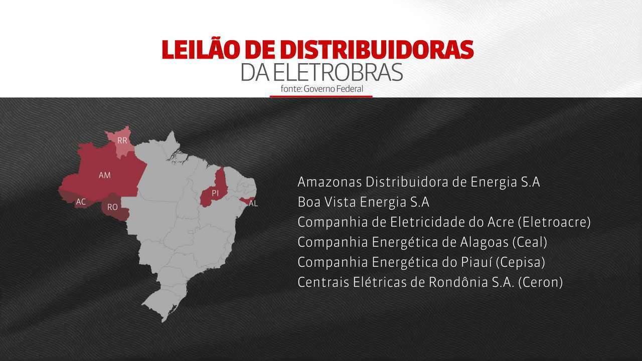 Governo publica edital para leilão das distribuidoras da Eletrobras
