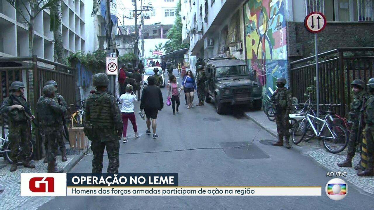 Forças de Segurança realizam operação nas comunidades da Babilônia e Chapéu Mangueira