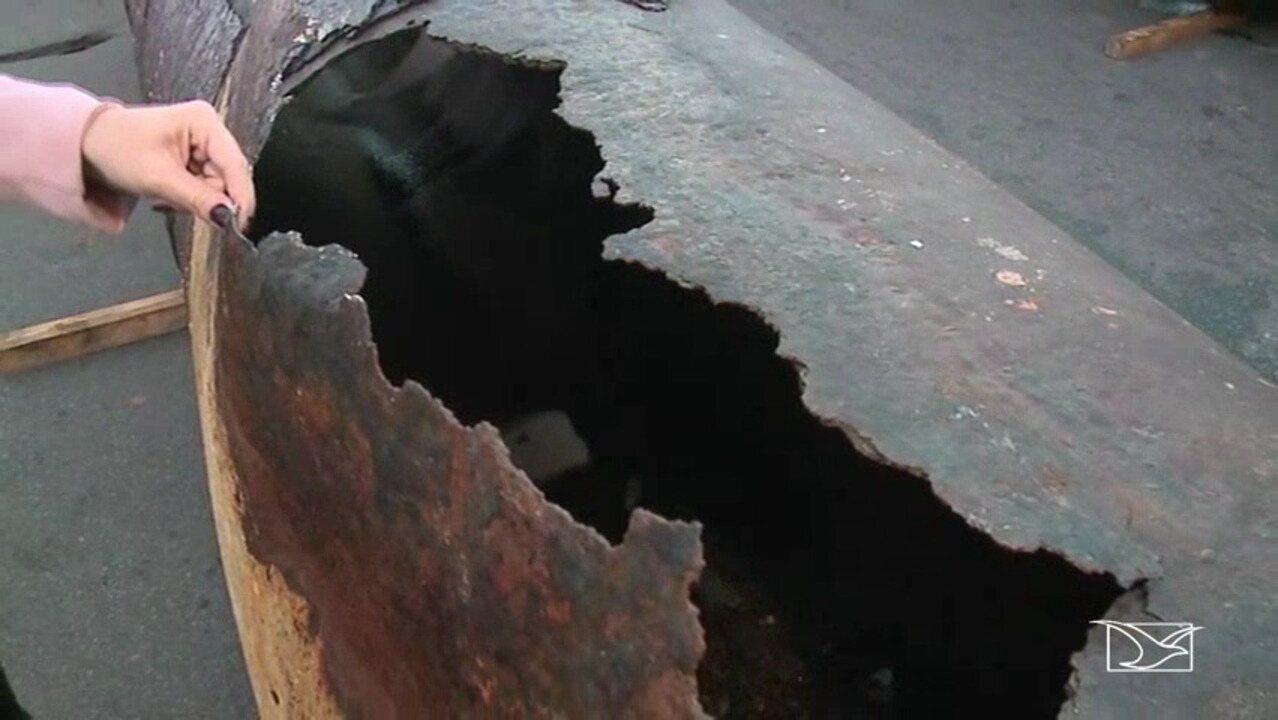 Caema realiza reparos após rompimento de sub-adutora em São Luís