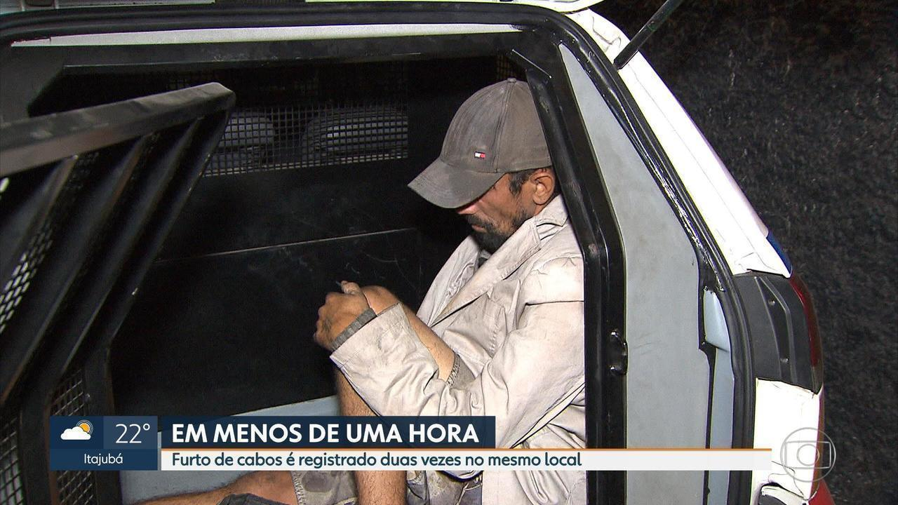PM prende suspeitos de furtar fios de semáforo em Belo Horizonte