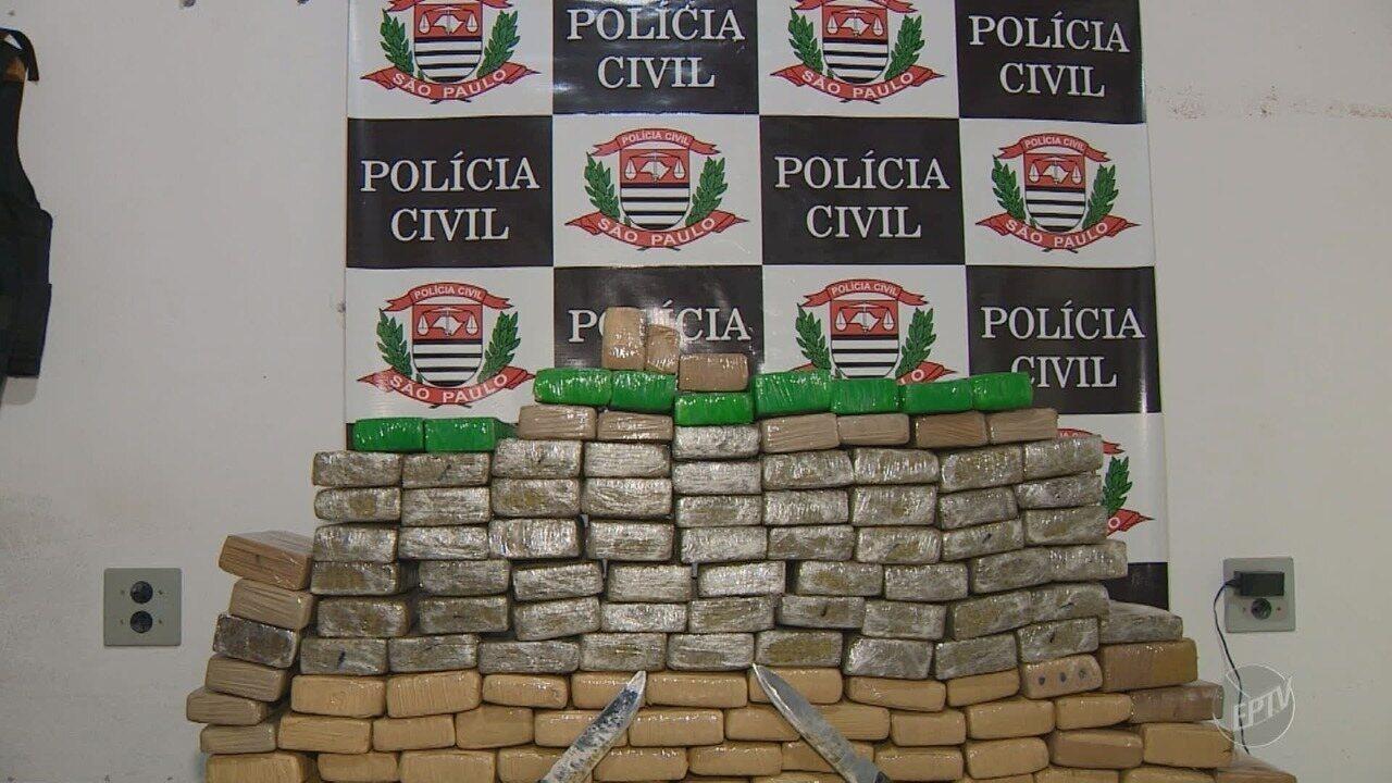 Polícia apreende mais de 100 quilos de maconha e homem é preso