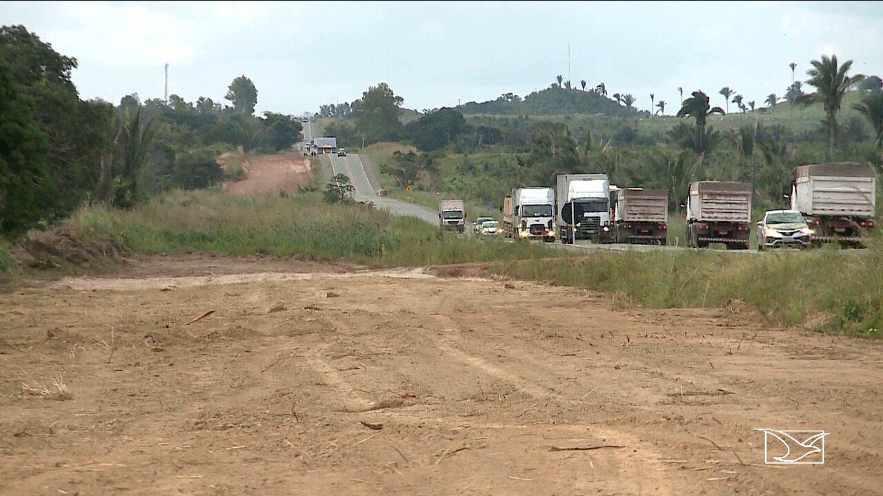 Suspensas obras na BR-135 em trecho que passa por comunidades quilombolas no Maranhão
