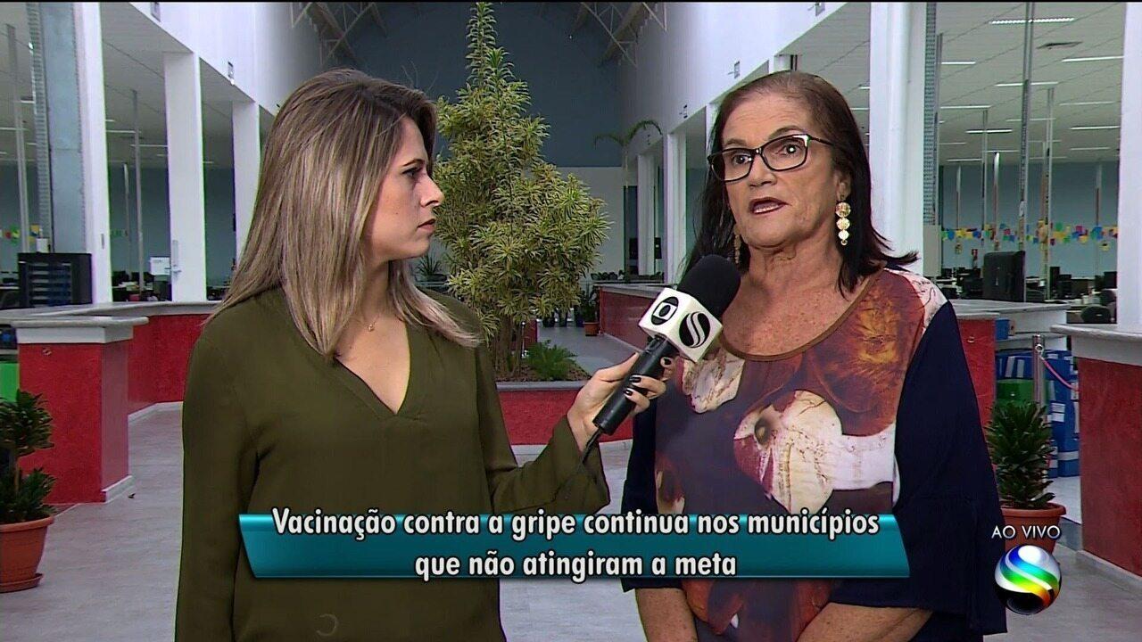 Vacinação continua nos municípios sergipanos que não atingiram a meta