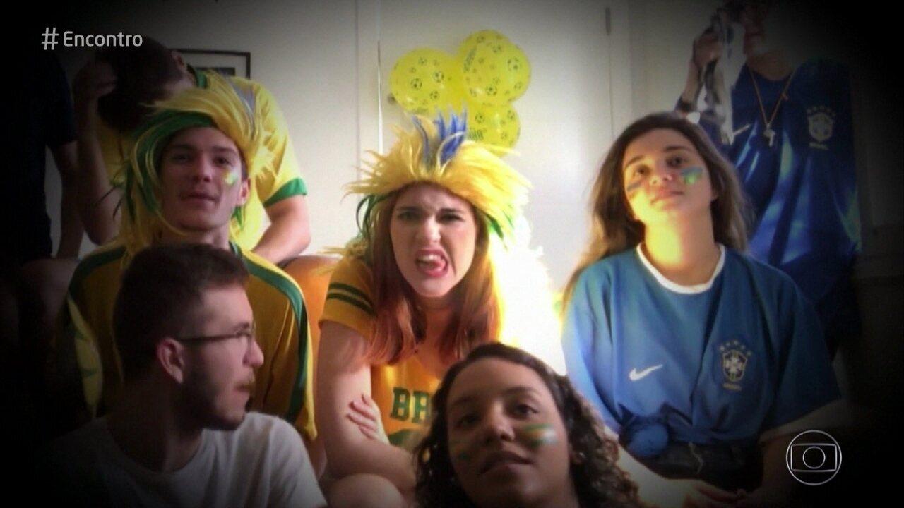 Convidados contam como se comportam durante os jogos do Brasil na Copa do Mundo