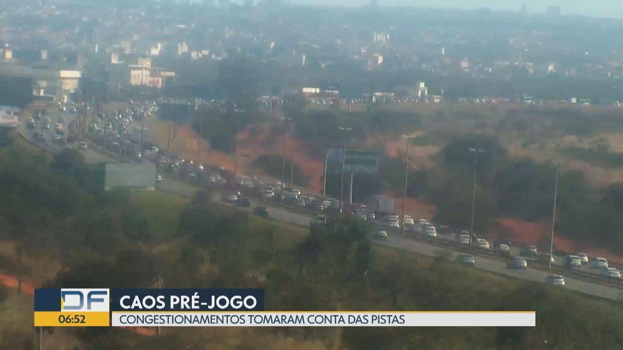 DF tem caos no trânsito antes do jogo do Brasil
