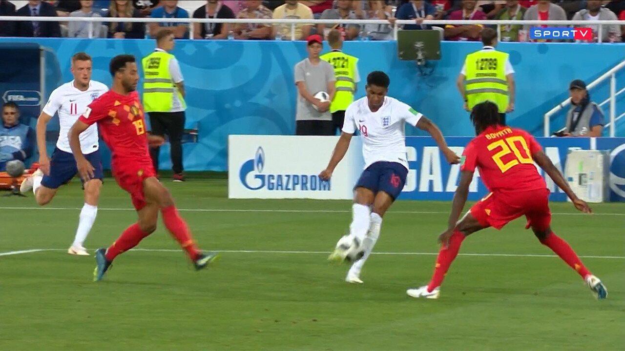 Inglaterra 0 x 1 Bélgica - Melhores Momentos