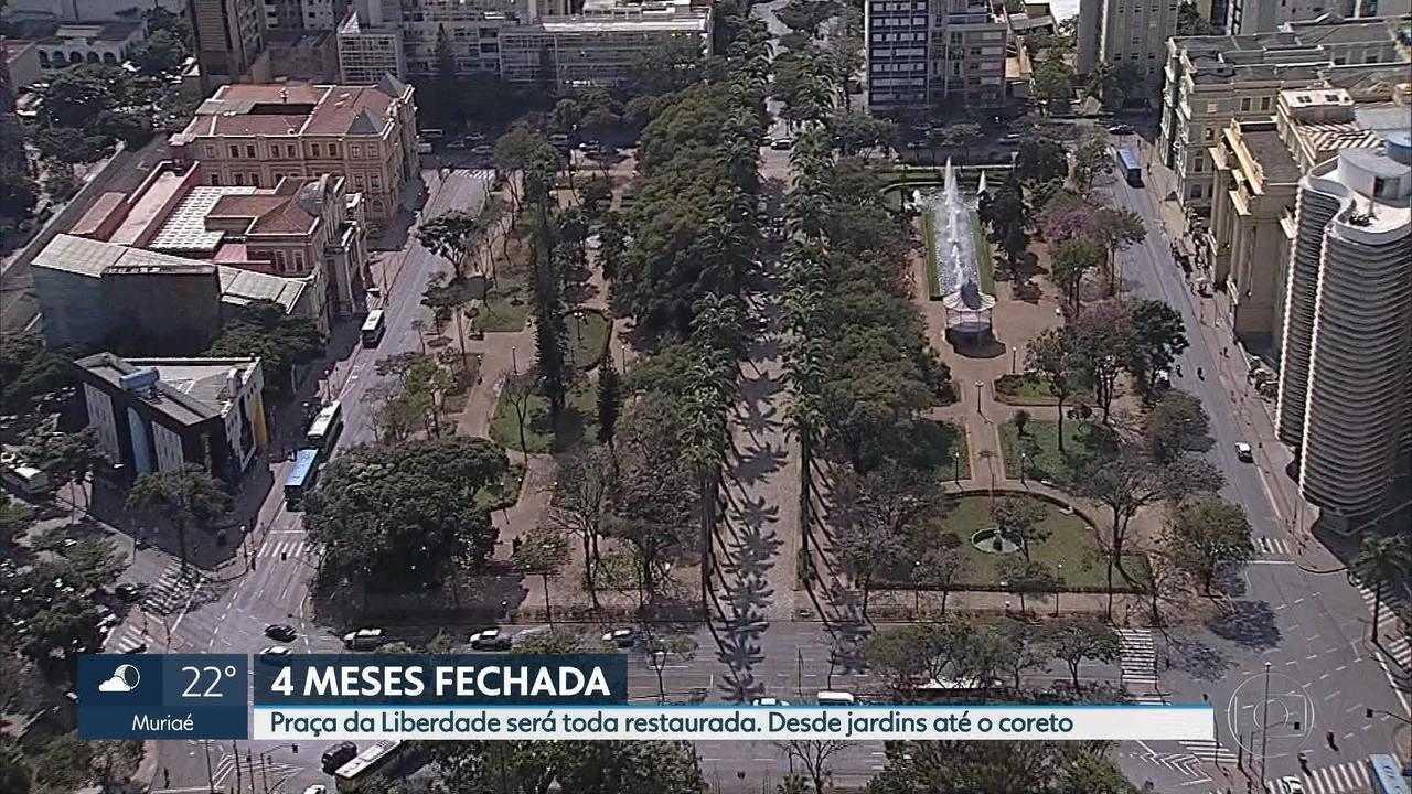 Praça da Liberdade, em Belo Horizonte, passará por reforma