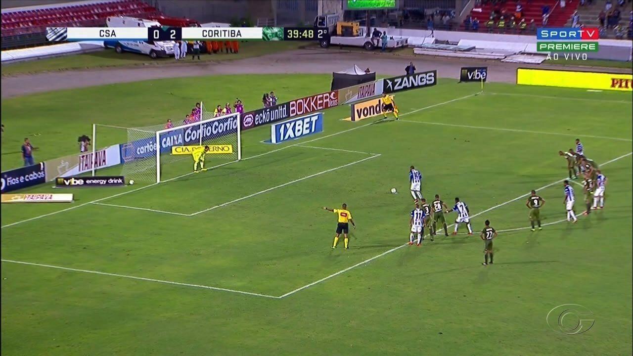 CSA e Coritiba empatam no Estádio Rei Pelé
