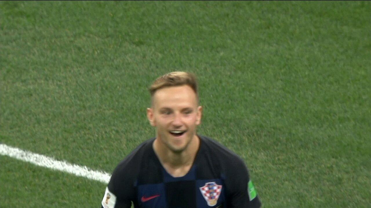 Os pênaltis de Croácia 1 (3 ) x (2) 1 Dinamarca pelas oitavas de final da Copa