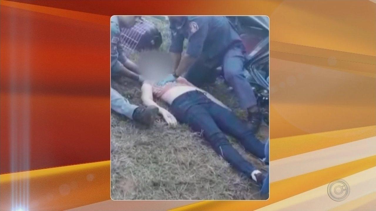 Mulher morre após capotar carro na rodovia Marechal Rondon