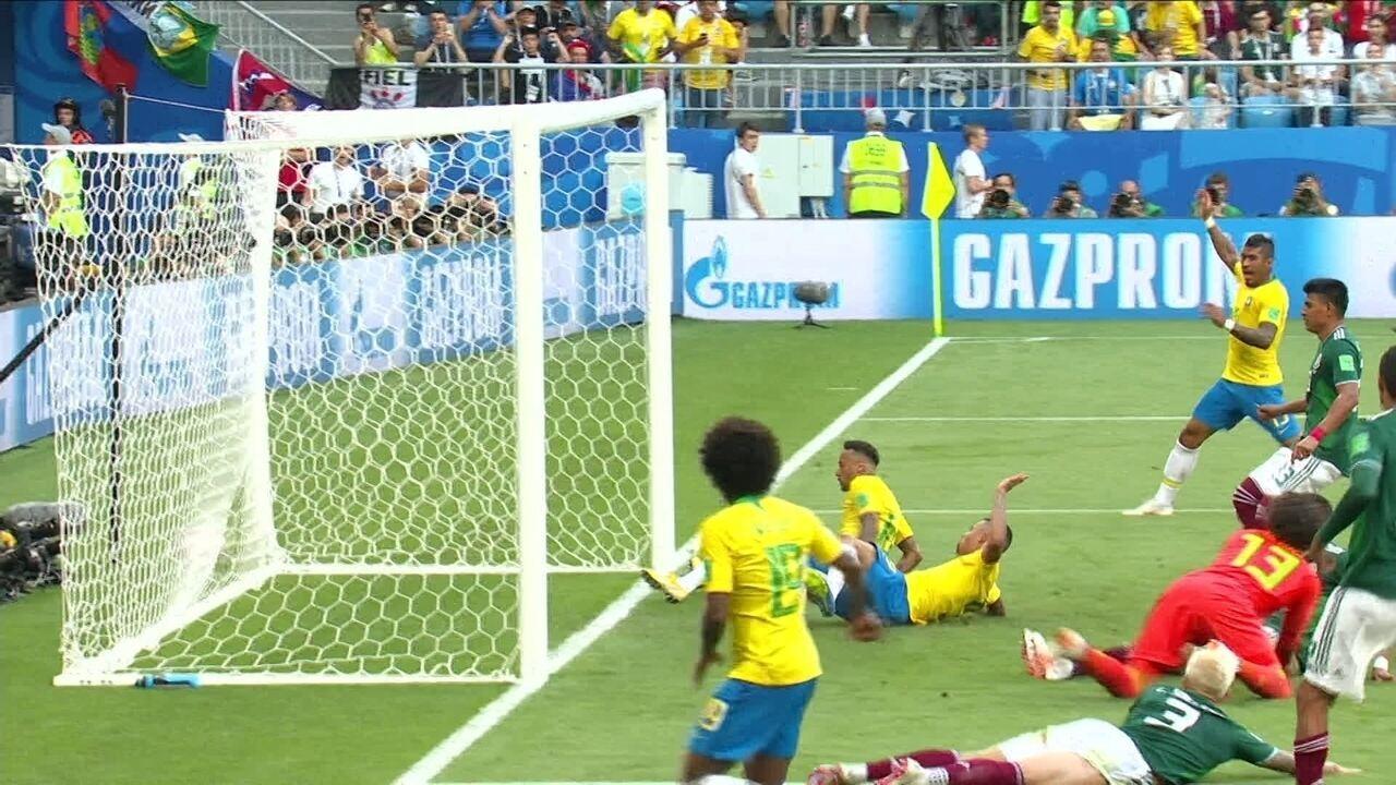 Melhores momentos: Brasil 2 x 0 México pelas oitavas-de-final da Copa do Mundo 2018