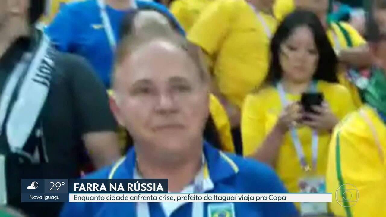 Enquanto cidade enfrenta crise, prefeito de Itaguaí viaja para a Copa