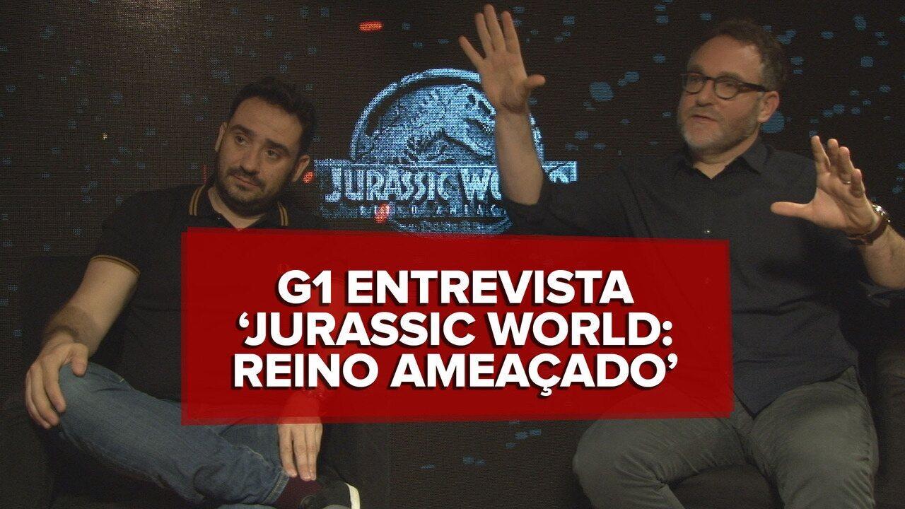 Diretor e roteirista de 'Jurassic World: Reino ameaçado' falam sobre futuro da franquia