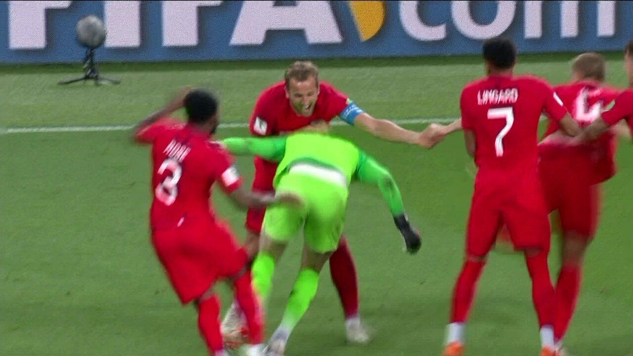 Inglaterra vence a Colômbia por 4 a 3 na disputa de pênaltis nas oitavas da Copa do Mundo
