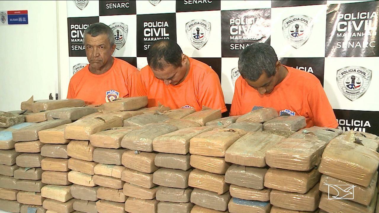 Trio é preso por suspeita de tráfico de 300 kg de maconha no Maranhão