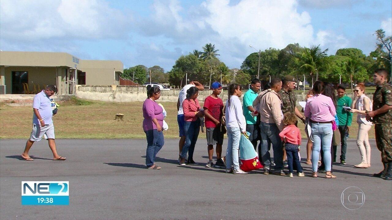 Imigrantes da Venezuela chegam a Pernambuco