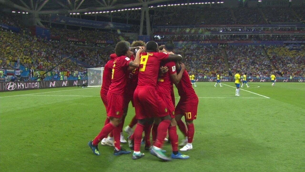Bélgica abriu o placar contra o Brasil nas quartas de final com gol contra de Fernandinho
