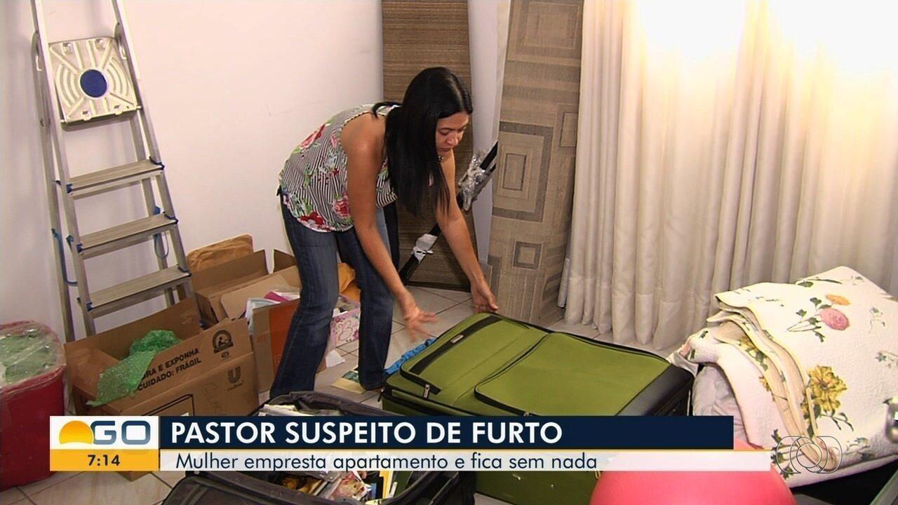 Mulher diz que emprestou apartamento para suposto pastor, mas homem fez um limpa no imóvel