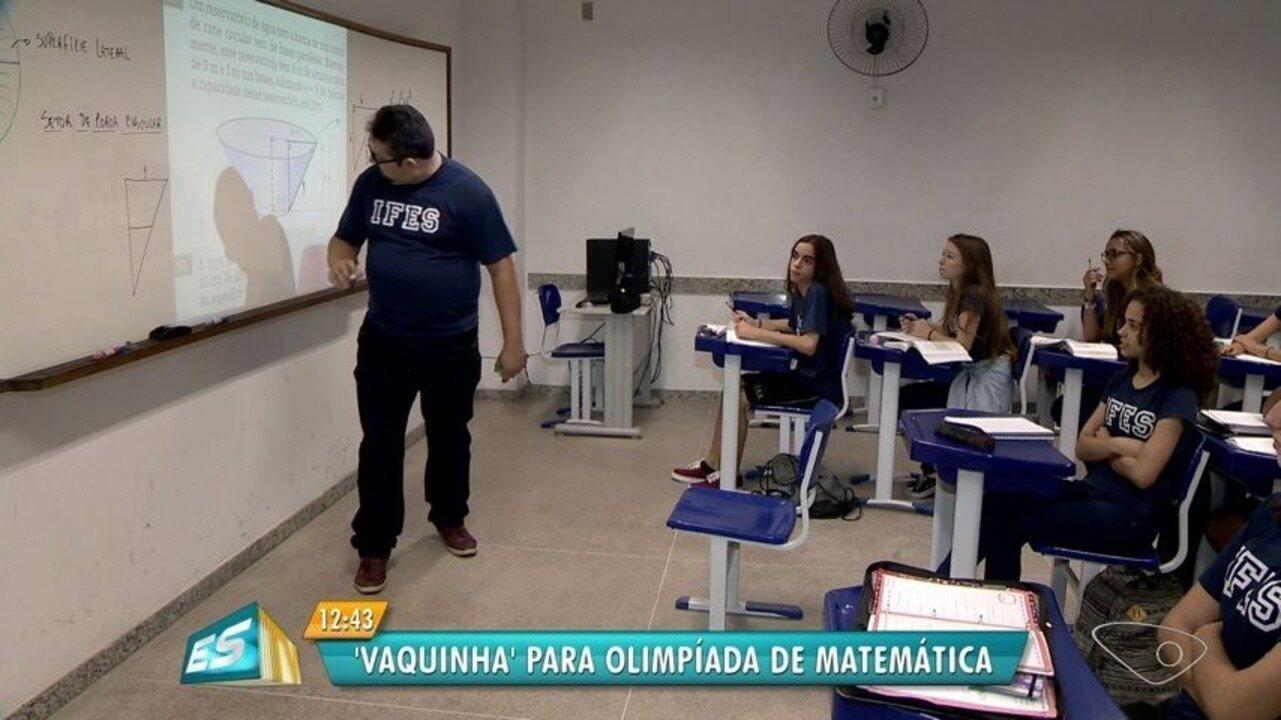 Alunos do ES fazem 'vaquinha' para irem à olimpíada de matemática na Tailândia