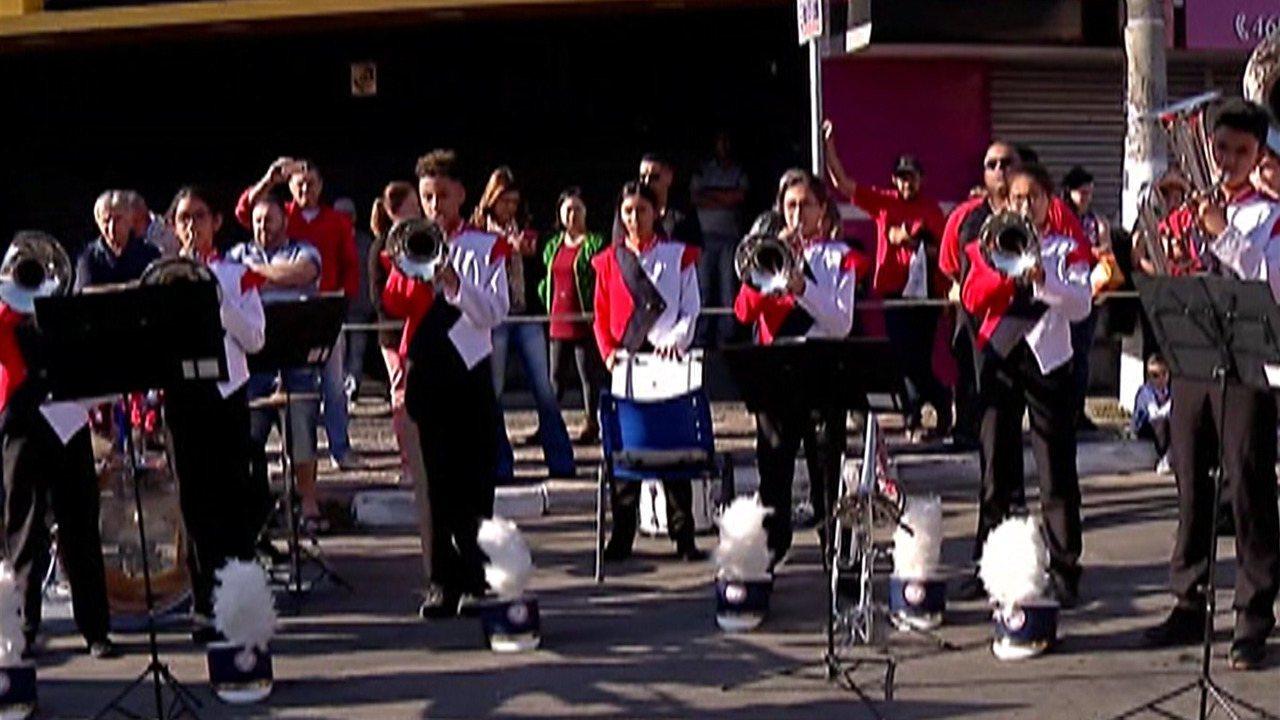 Concurso de fanfarras toma conta do centro de Santa Isabel neste domingo