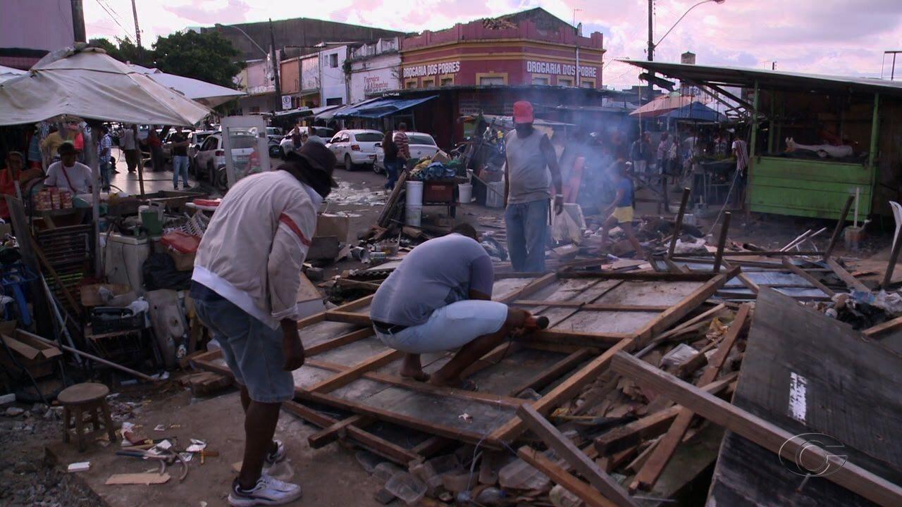 Ação retira ambulantes de vias no bairro da Levada, em Maceió