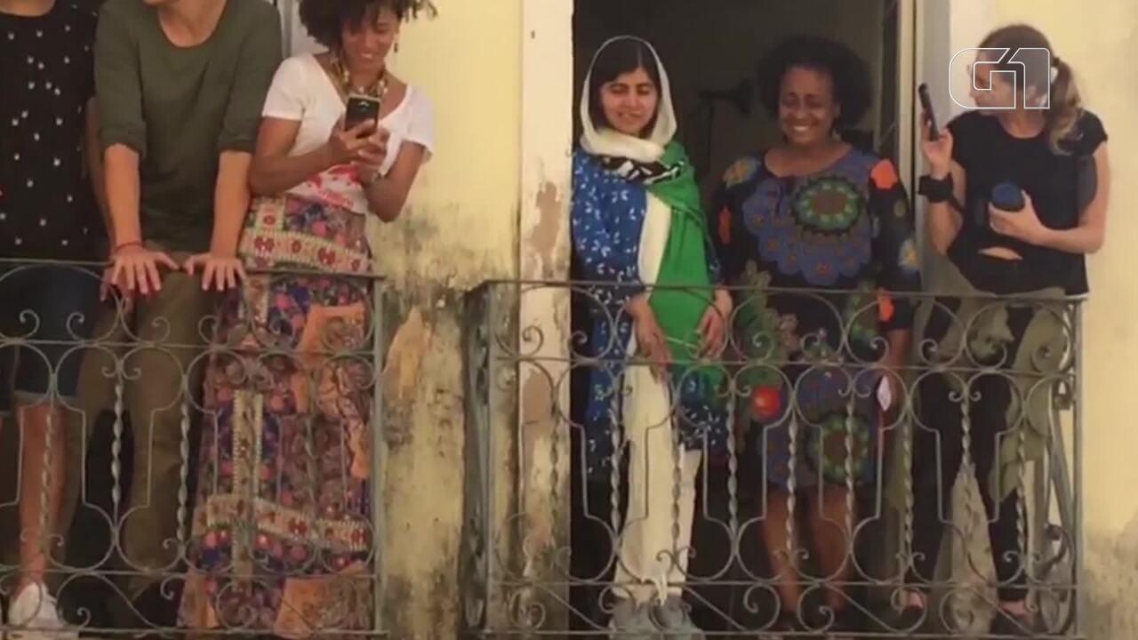 Malala visita Centro Histórico de Salvador