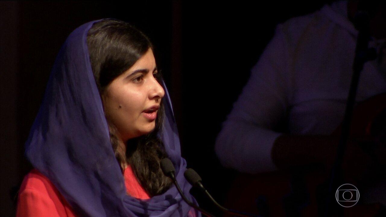 Malala anuncia patrocínio para brasileiras que incentivam a educação de meninas