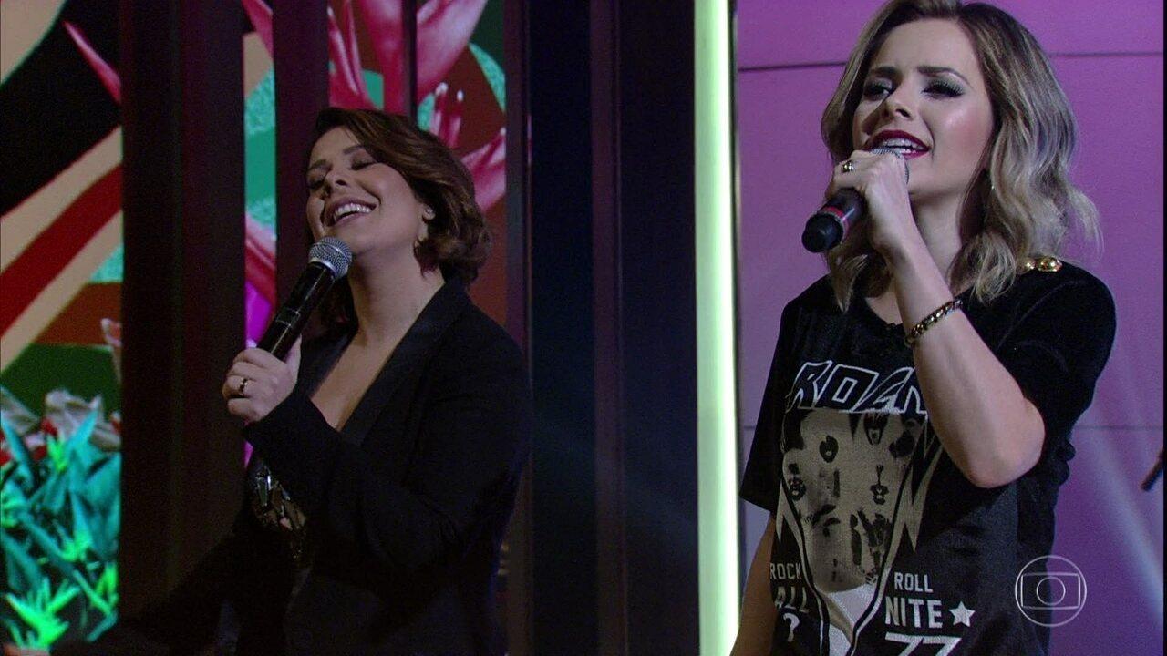 Fernanda Souza faz dueto com Sandy