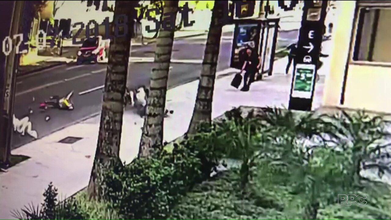 Defesa de motociclista envolvido em acidente no Batel fala pela peimeira vez