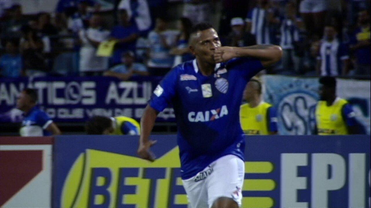 O gol de CSA 1 x 0 Sampaio Corrêa, pela 15ª rodada Série B do Campeonato Brasileiro