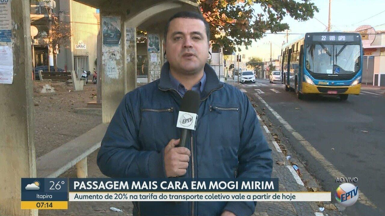 Mogi Mirim inicia cobrança de novo valor da tarifa de ônibus