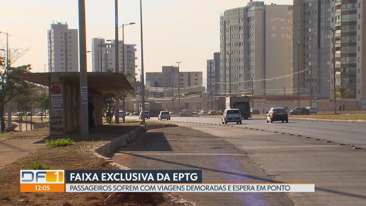 Passageiros sofrem com viagens demoradas na EPTG