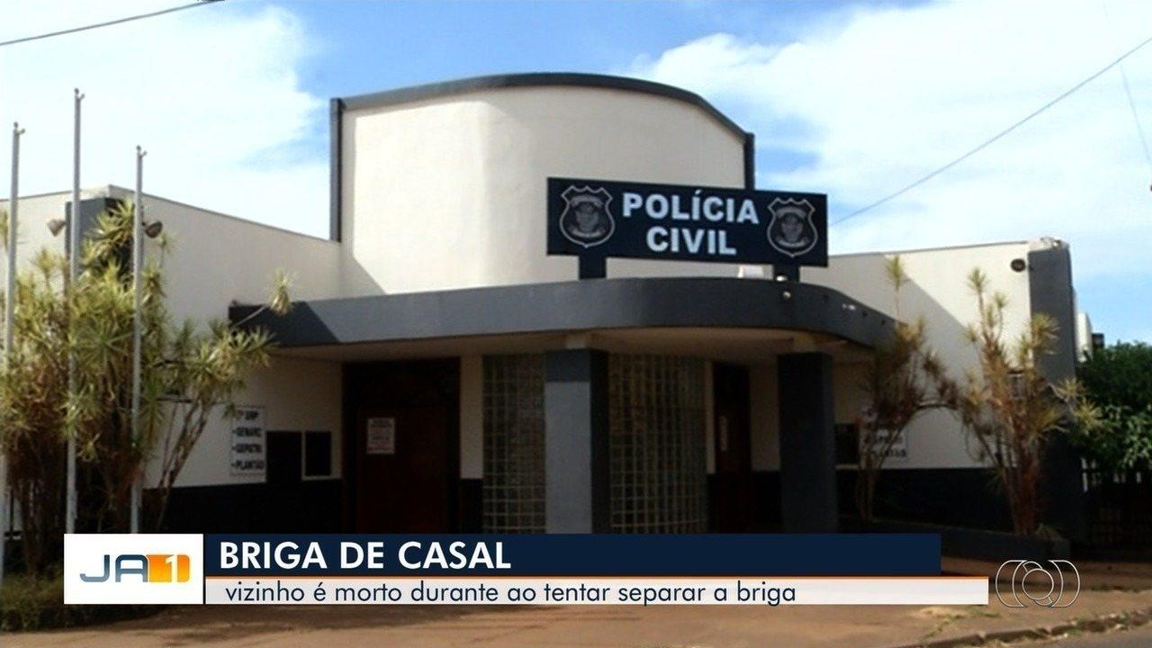 Jovem é suspeito de agredir namorada e matar vizinho que interveio na briga, em Itumbiara
