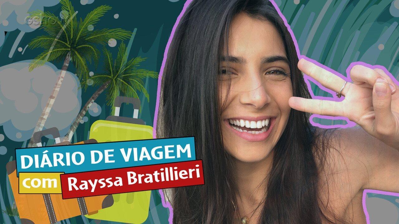 Rayssa Bratillieri comanda diário de viagem