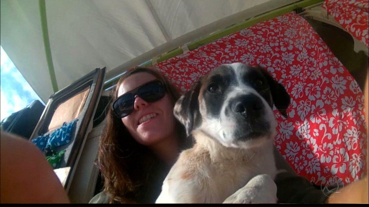 'Vamos ficar aqui até achar', diz casal de estrangeiros que perdeu cadela na PB