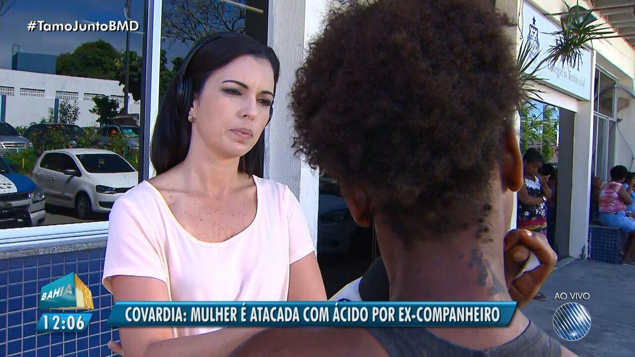 Mulher é atacada com ácido e acusa o ex-companheiro em Salvador