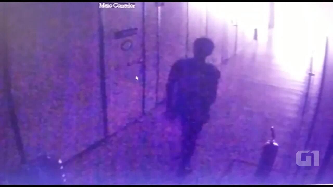 Câmeras de segurança do Ministério do Trabalho registram invasão ao prédio