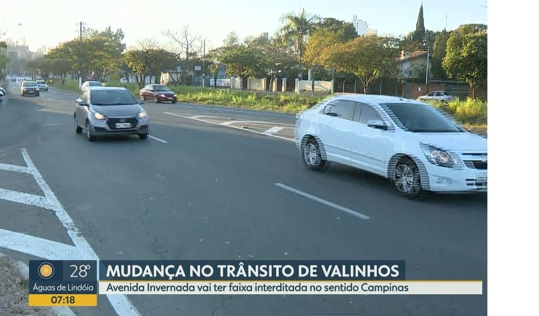 Avenida Invernada, em Valinhos, começa a receber obras a partir desta quinta-feira