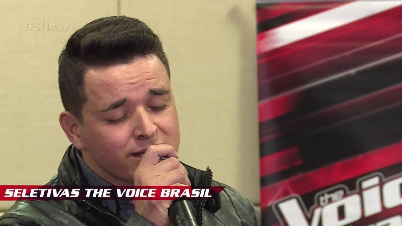 Confira vídeo exclusivo de Léo Pain nas seletivas de The Voice Brasil
