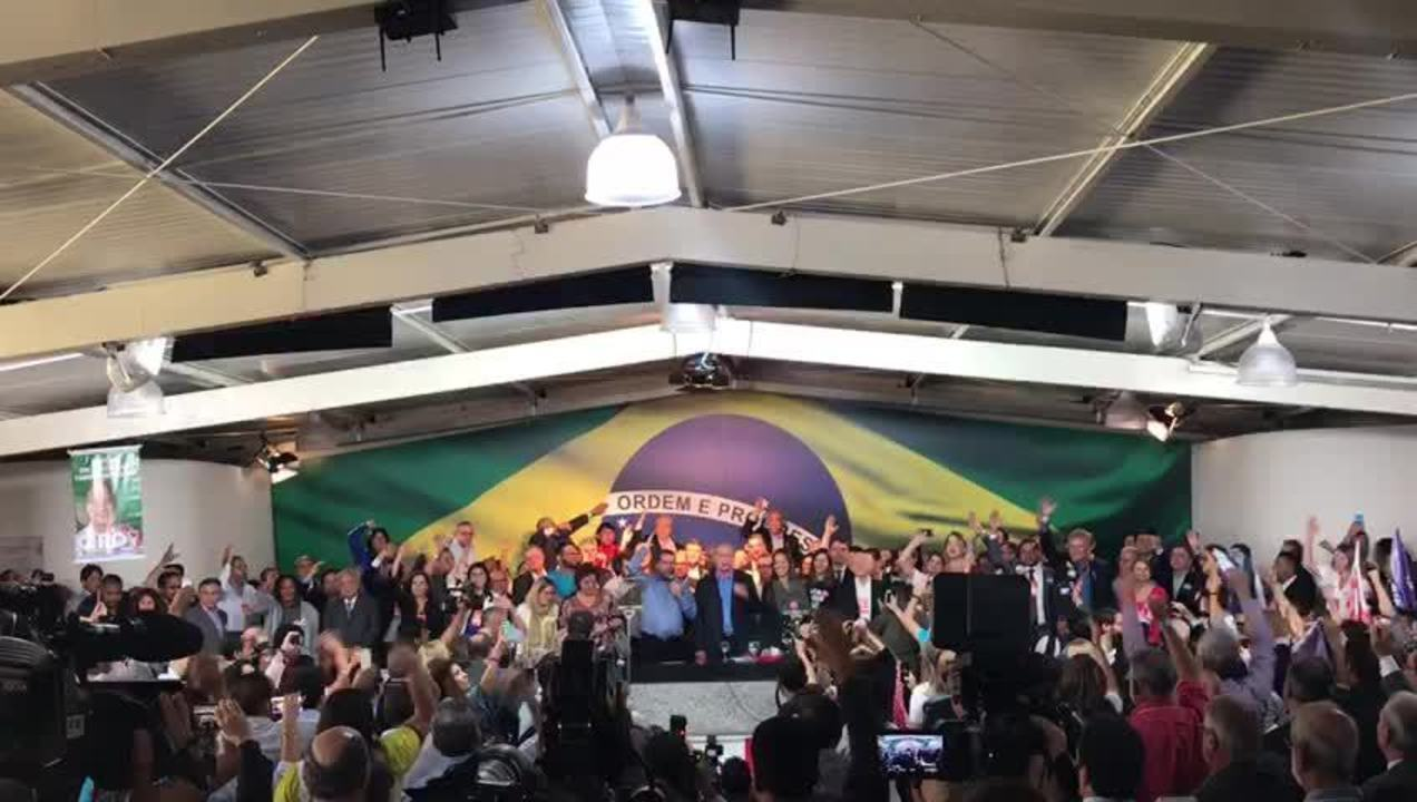 Momento em que o PDT oficializa candidatura de Ciro Gomes à presidência da República.