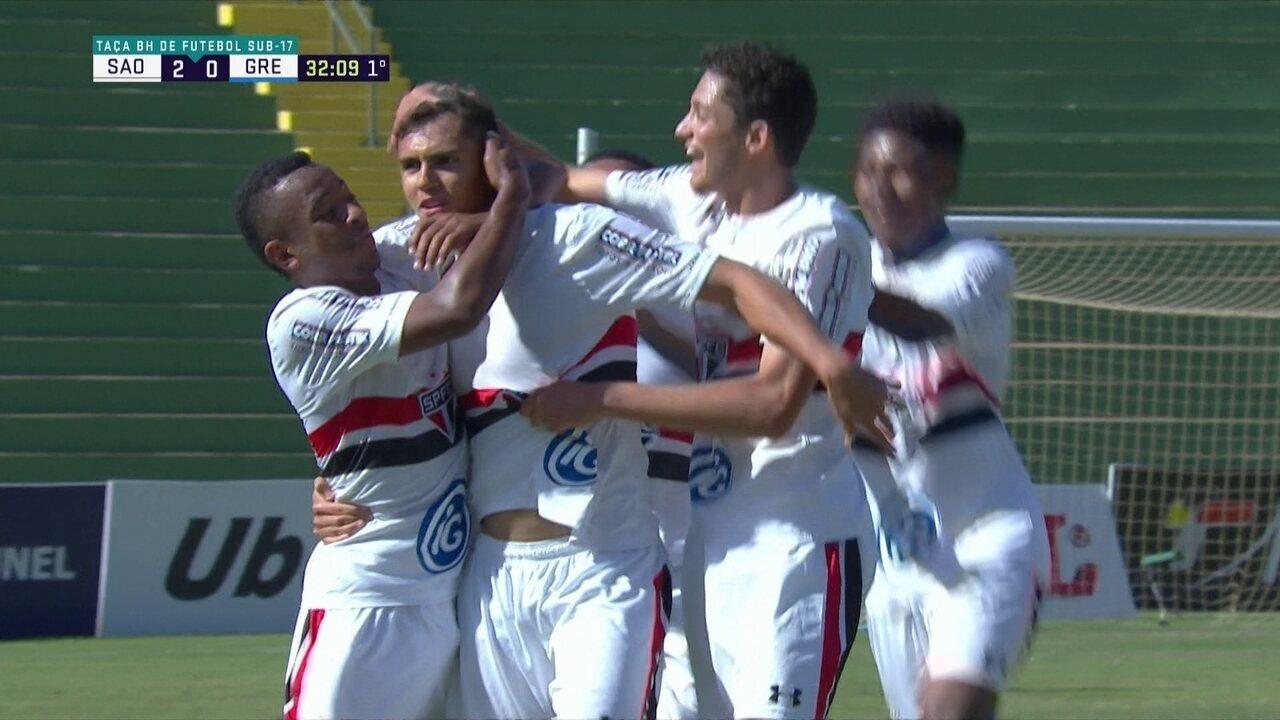 Veja gol de Lucas Fasson pela base do São Paulo