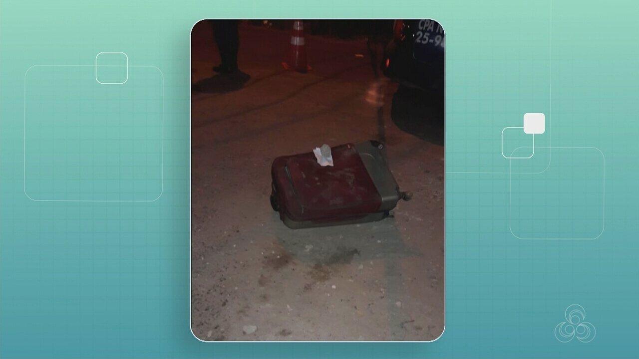 Corpo esquartejado é achado dentro de mala em rua da Zona Oeste de Manaus