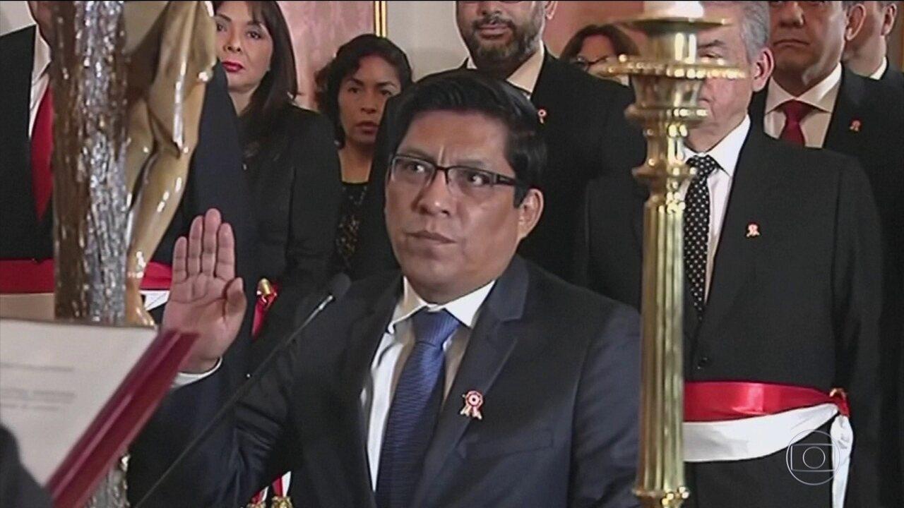 Novo ministro da Justiça do Peru assume em meio a escândalo