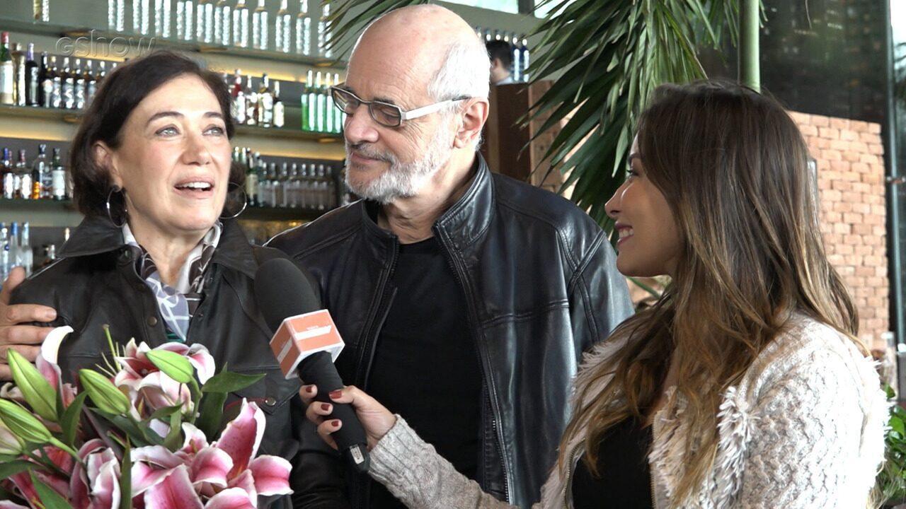 Confira conteúdo estendido do reencontro marcado entre Lília Cabral e Marcos Caruso