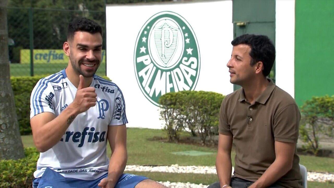 Bruno Henrique, do Palmeiras, comenta vitória sobre o Atlético-MG