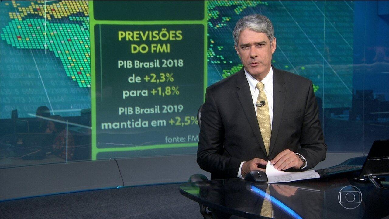 FMI reduz para 1,8% previsão de crescimento do país em 2018