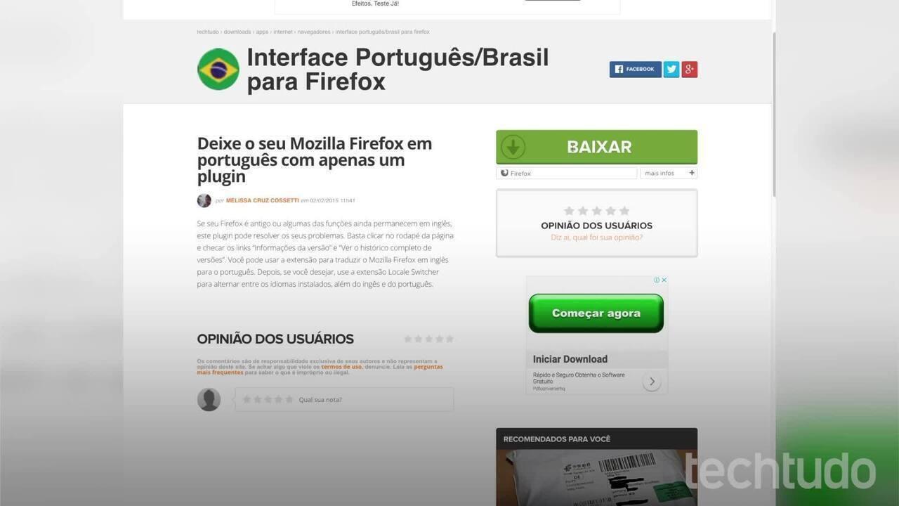 Como mudar o idioma do Firefox para português