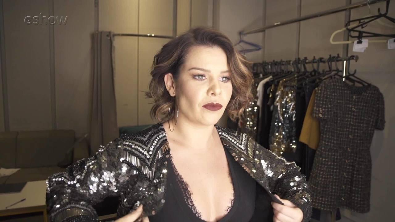 Fernanda Souza mostra seu look, make e brinca com Alê de Souza